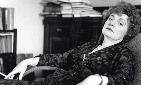 "maudnewton:  I like to think Muriel Spark would take her ""D is for Dexedrine"" entry in Jane Hu's round-up of Writer Food from A to Z in good spirits, though it should be noted that when told that her former editor said she was ""really quite batty"" during her diet pill period, Spark called him an ""indescribably filthy liar"" who ""must be on the bottle again.""  Dieting talk and Muriel Spark really do seem to go hand in hand. Judging by the highly scientific sample of people I know or have met briefly, every fanatical fan of her work will at some point, usually while drinking, marvel at the brilliant simplicity of the diet plan laid out by Mrs. Hawkins, narrator of Spark's 18th novel, A Far Cry from Kensington:   ""It's easy to get thin. You eat and drink the same as always, only half…. I offer this advice without fee; it is included in the price of this book.""   This approach can be disadvantageous to writers, though, according to Mrs. Hawkins, even for reasons not involving nutrition. ""[W]hen I decided to be thin,"" she says, ""right away I noticed people didn't confide their thoughts to me so much.""  (Previously cited Mrs. Hawkins wisdom: if you want to concentrate deeply on your writing, get a cat.)"