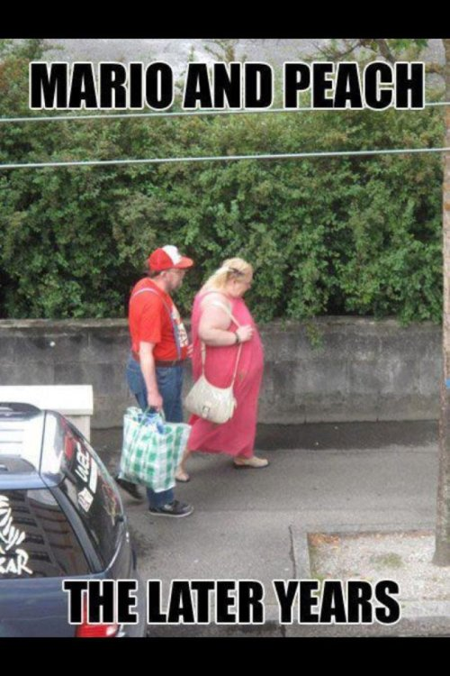 "Mario and Peach: the Later Years ""How come we never go karting anymore?"