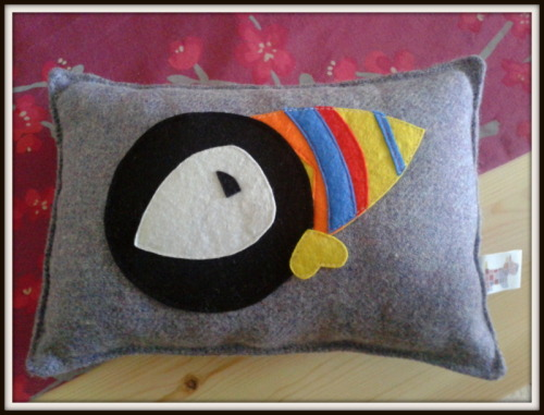 I made this for someone who likes puffins. It's a cushion with a puffin on it. Not sure there's much more to say here!