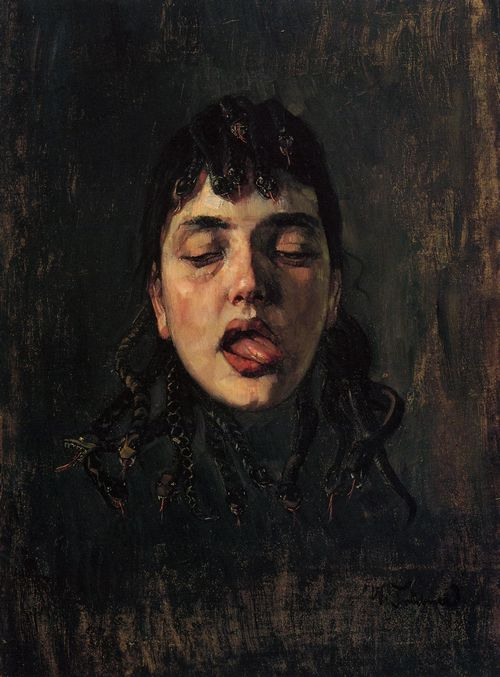 veritas925:  Wilhelm Trübner - Gorgonenhaupt / The Head Of Medusa, 1891