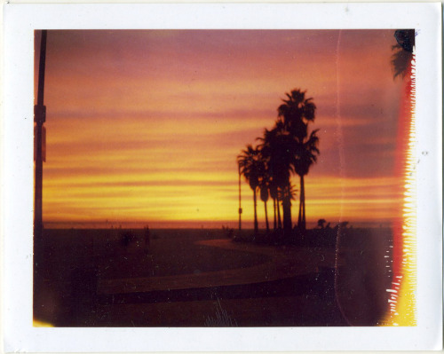 Venice Beach photographed on vintage Polaroid film