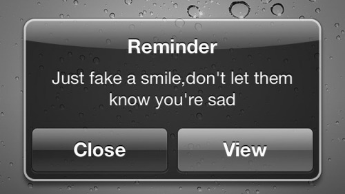 Ok, i'm serious now - i actually have such a reminder… :-(