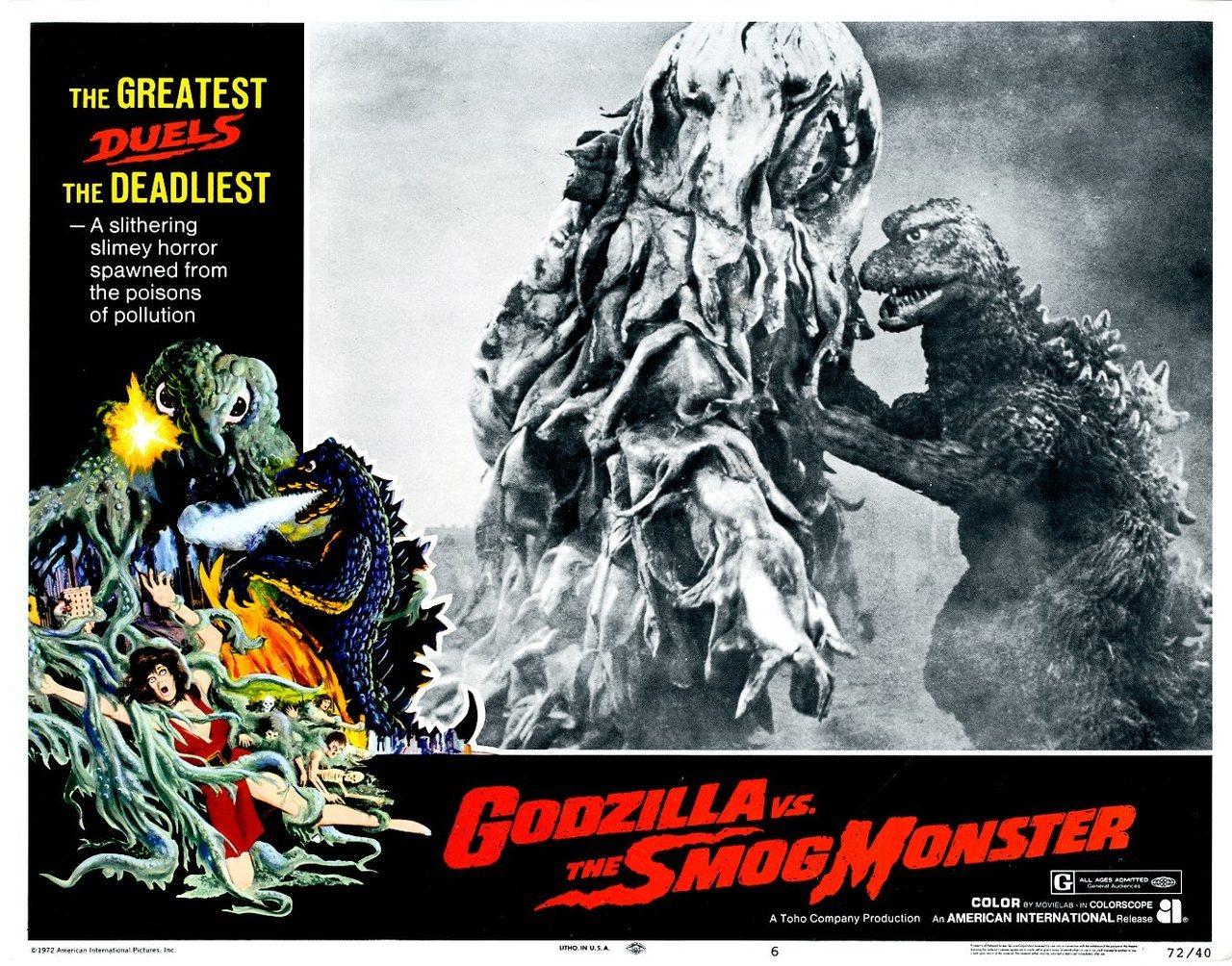Godzilla vs. the Smog Monster, US lobby card. 1972