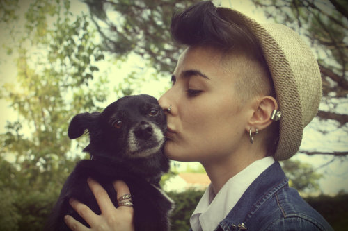 missalexhart:  me and my lovely dog
