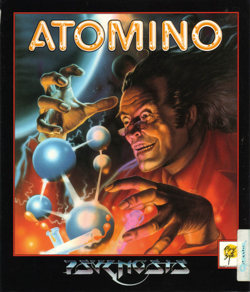 Atomino by Psygnosis. Illustration by Celal Kandemiroglu.