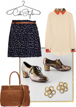How to Wear Metallic Oxfords by cakestyle featuring silk tops