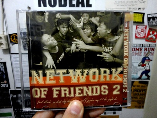 "'NETWORK OF FRIEND 2"" 4 way split 2012 - GORDON IVY & THE JAYBIRDS (Japan)  - FINAL ATTACK (Indonesia) - NODEAL (Indonesia) - SLAP THE CULTURE (Japan) release by Akhashic records (Japan)"