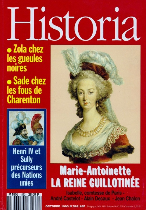Historia no. 562, October 1993, featuring Marie Antoinette on the cover source: my scan