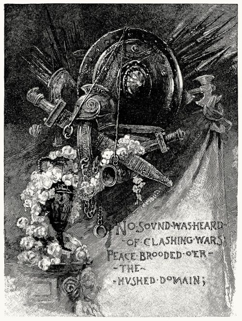 oldbookillustrations:  No sound was heard of clashing wars Peace brooded o'er the hushed domain William Ladd Taylor, from It was the calm and silent night, by Alfred Domett, Boston, 1884. (Source: archive.org)
