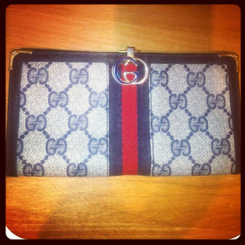 Authentic vintage Gucci wallet now available at Paper Doll for only $150