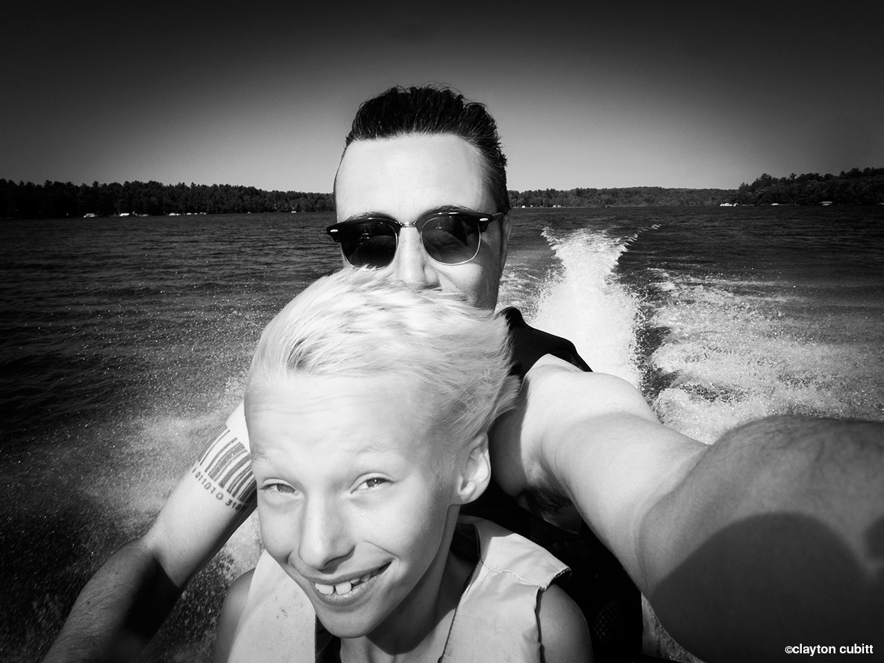 Going fast on the jet ski with Max, Minnesota  (3082)