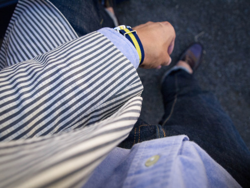 Seersucker, oxford cloth, and stripes.