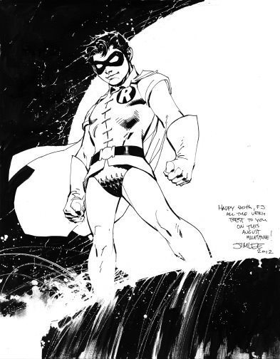 dcplanet:  The Boy Wonder  Sketch by Jim Lee