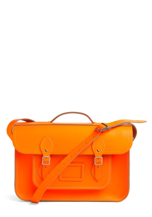 Shop the Upwardly Mobile Satchel in Neon Orange.