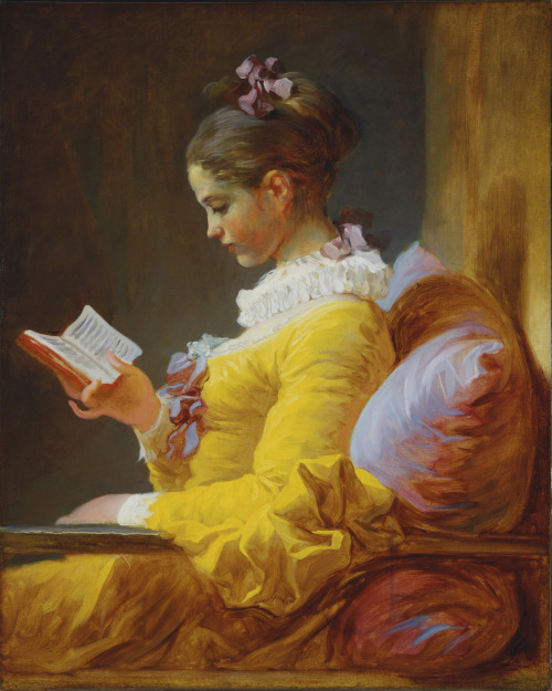 rimages:  A Young Girl Reading or The Reader (1776) - Jean-Honoré Fragonard