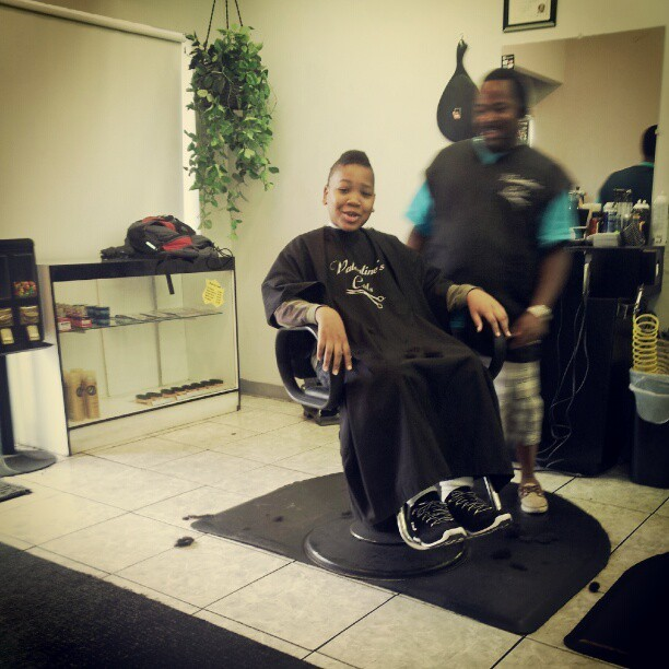 Joshua got a mohawk lol  (Taken with Instagram at Valentine's Cuts)