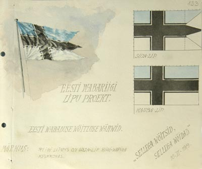 themaddogprincess:  Proposed flag of Estonia 1919
