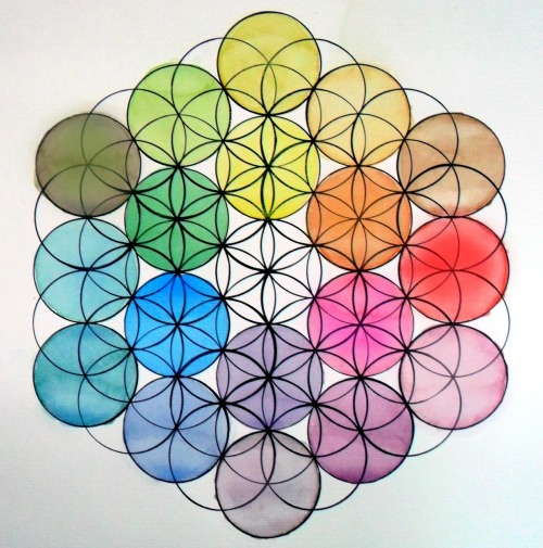 The Fruit of Life and the Chroma Circle  Studying Color Through Sacred Geometry