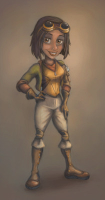 Final colorcomp for Dentisha character for a Serious Game exhibit, Attack of the S. Mutans!