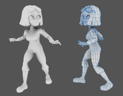 Final model for Dentisha character for a Serious Game exhibit, Attack of the S. Mutans!