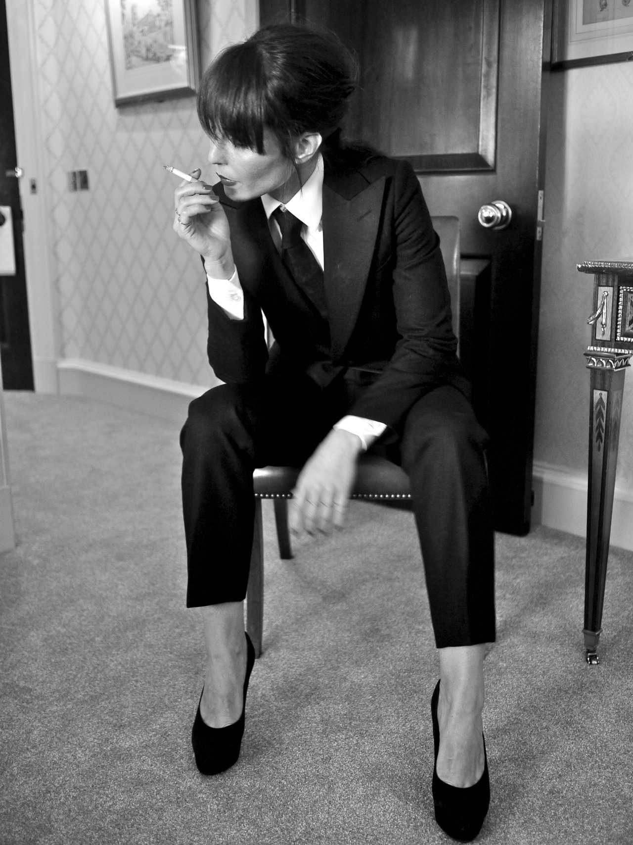 thisisnotasuit:  Menswear for Women Noomi Rapace wears black W1 Tuxedo Suit by A. Sauvage Photography: Adrien Sauvage