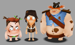 Unreleased Feral kid character models for the LeftOvers mobile game