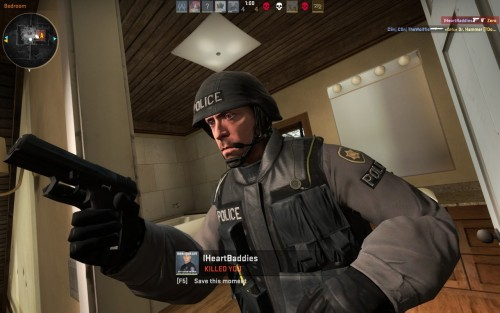 Louis CK isn't the only celebrity appearance in CS:GO, I found Hugh Laurie as well