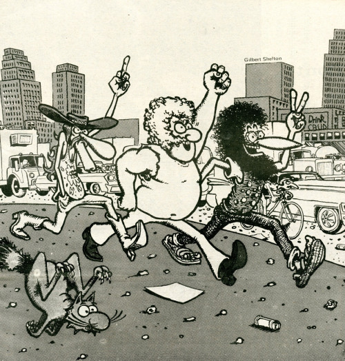 babylonfalling:  the further adventures  I READ FREAK BROTHERS COMIX BEFORE I COULD READ. THANKS KEES DEN BREEJEN!!!