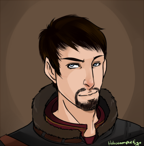 A bust commission of GreyElectrum's Marcus Hawke. C: