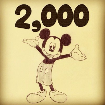 2,000+ followers. Thank you!!✌ (Taken with Instagram)