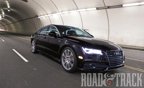 The all-wheel-drive A7 is no slouch, hitting 60 mph in 4.7 seconds and clocking a 13.2-sec. quarter mile. (Source: Road & Track)