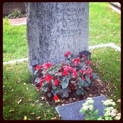 Today I went to Stockholm northern graveyard to visit Ingrid, I always knew that if I ever had the chance to travel to Sweden I'll come to see her. Is extra especial because tomorrow is the anniversary of her death an also her birthday. I owe her and love her so much.