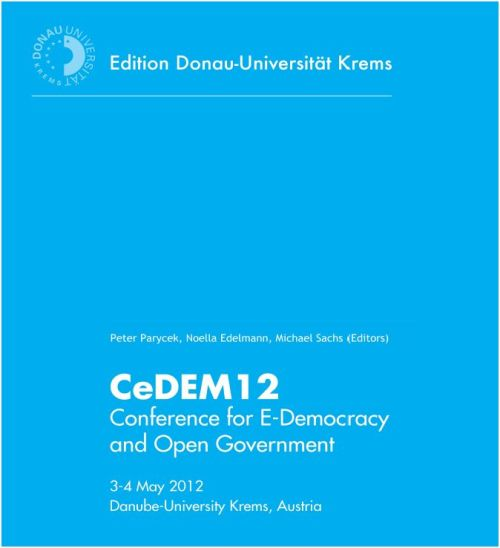"I just came across the proceedings of the Conference for e-Democracy and Open Government 2012 [PDF]. Arthur Lupia's essay ""Can Evolving Communication Technologies Increase Civic Competence?"" [PDF] makes for great reading.  It was also excellent to see Emmy Mbera's paper about the experience of our program (ICT4Gov) in the Democratic Republic of Congo, ""Towards budget transparency and improvement in the South Kivu Province"" [PDF].  Emmy was one of the external evaluators of our mobile participatory budgeting project in South Kivu. In his paper, among other things, Emmy presents some of his preliminary findings with regard to increases in tax collection following the implementation of our project. In total there are 30 papers, some of which might interest researchers and practitioners in the field. Enjoy."