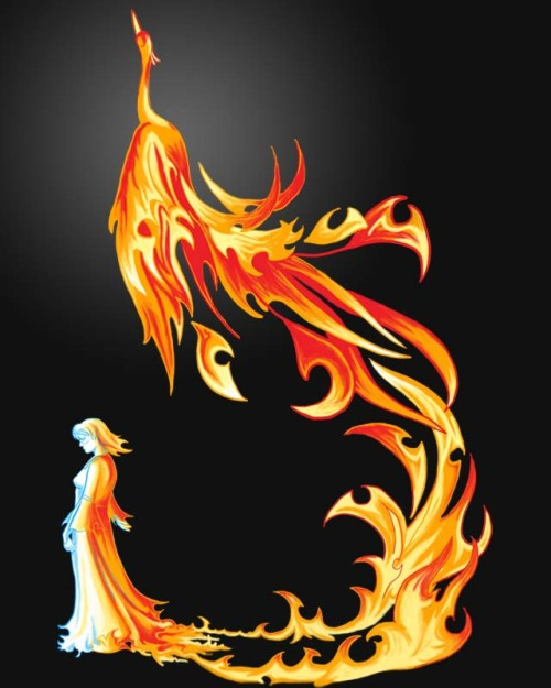 Do you like fire, and birds, and maybe firebirds? If so, help turn this design into a t-shirt by scoring it at Threadless. In any case, enjoy and remember that something will always rise up out of the ashes.