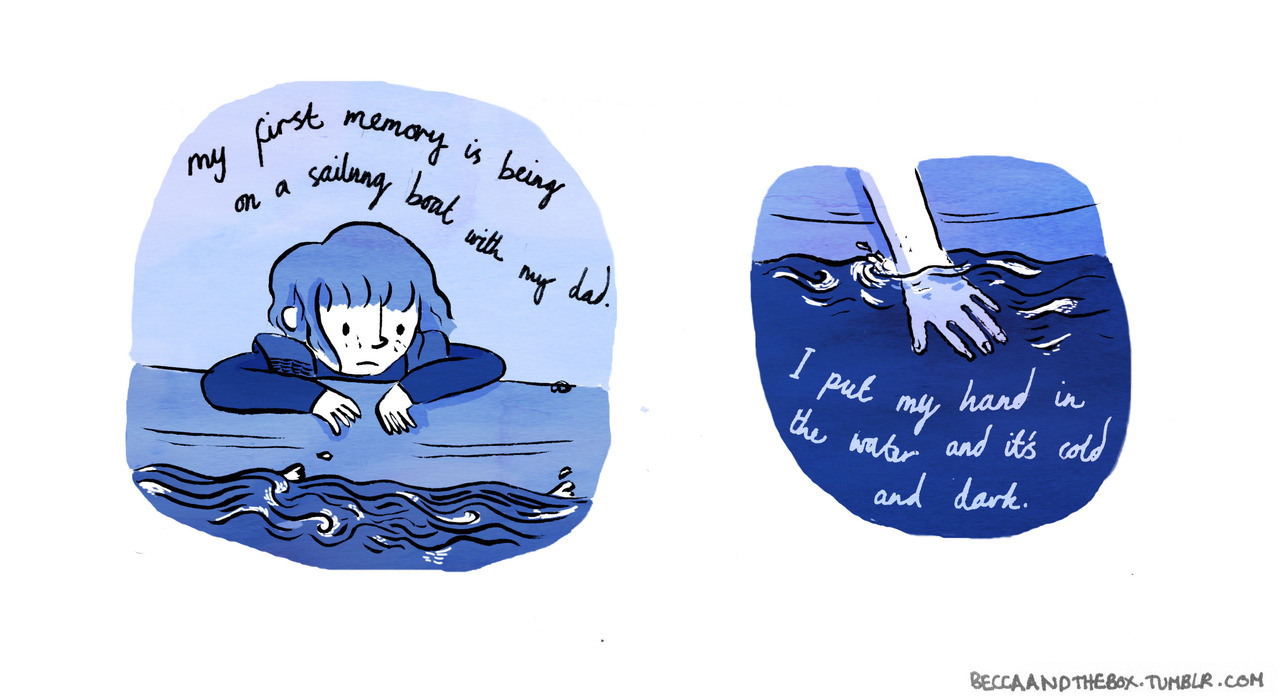 Marlo Meekins asked people to draw their first memories, so I drew mine. A lot of my very early memories are centered on the way things felt and looked rather than what was happening around me.