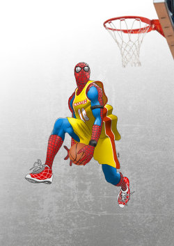 herochan:  Air Spidey!! Created by Pramod Koshy George