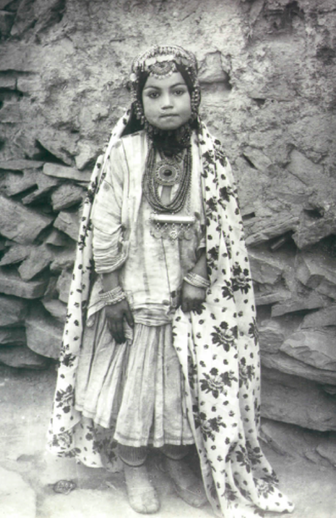 machistado:  [Jewish village girl shortly after her wedding, Iran, ca. 1875] Jewish Henna Traditions among Persian Jews  The Jewish community in Central Asia is very ancient: by the middle of the first millenium BCE there was already a substantial settlement of Jews in the Persian Empire. Several communities, speaking a variety of Judeo-Persian languages, were established in what is today Iran and Afghanistan; others spread to the north into Bukhara (today Uzbekistan and Tajikistan) and to the west into the Caucasus (Georgia, Armenia, and Azerbaijan). These communities share some common cultural and linguistic markers with each other, but also differ in significant ways.The henna customs of Kurdish Jewish communities living in Persia are discussed, together with other Kurdish Jews, here.In Persian Jewish communities, henna was an important cosmetic, forming one of the haft qalam arayesh ['seven items of beautification']. It was commonly used by men and women to colour hair, and especially to cover greying hair. Women also used it to colour fingernails and toenails in lieu of nail polish. Hands and feet were dyed with henna, either solidly or with patterns. The patterns, applied with a stick or even one's fingertips, depended on what each person wanted: common simple designs included dots, stars and moons, and those more artistically inclined would depict flowers, birds, and even people. Among Persian Jews, the henna was applied by women of the community, rather than professional artists. Henna was generally applied in the hammam [public baths]: women would usually go to the hammam to be hennaed around once a month, generally on a Friday morning before preparing for Shabbat. Women and their children would spend three to four hours in the hammam, which was an important social institution: besides bathing, and being hennaed or massaged, they would socialize, gossip, tell jokes, and catch up on community news. Aside from the general use of henna, women would also apply henna before holidays and celebrations as a sign of joy and beauty. As a symbol of celebration, henna was not used during periods of mourning, both personal and communal; henna was not used, for example, during the month of Av [a month mourning the destruction of the Temple]. The crypto-Jews of Mashhad (who had been forced to convert to Islam in the mid-19th century, but continued to practice Judaism in secret) also refrained from using henna during the two months of Muslim mourning [i.e. Ramadan, a month of repentance, and Muharram, a month of Shi'i mourning for the martyrdom of Husayn ibn Ali] when henna is traditionally not done in Muslim communities, as to not draw attention to themselves. In some Iranian Jewish communities, after someone died, their family would refrain from henna for a full year. At the end of the year, the mourners would be symbolically brought out of their grief: friends and family members would bring gifts of new clothing and jewelry and place them on the mourners; they would then be taken to the hammam and hennaed, which symbolized their return to the cycle of life and sociality. This ceremony was called sal dar overi [literally, 'to leave the year', i.e. to end the year of mourning]. (Continue reading….)  What a fascinating read.