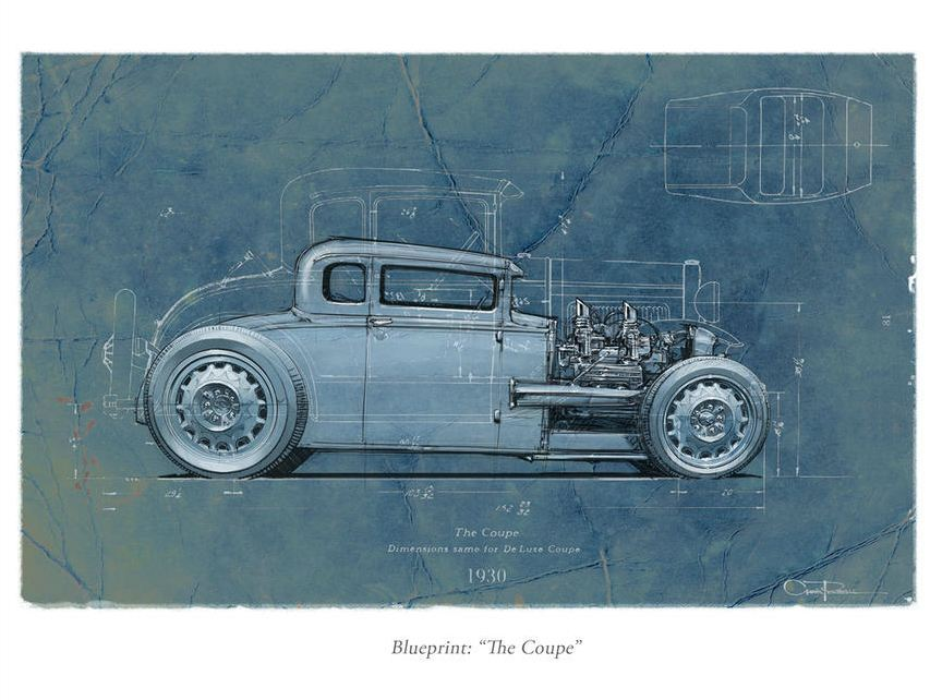 """The Coupe"" The Art & Design of Chris Piscitelli ____________________ Seeing stuff like this is 1 part inspiring and 2 parts ""just go ahead and cry cuz you'll never be this good"". Mostly inspiring though ^_^ Highly recommend browsing this guy's portfolio…he probably had a part in designing something you're currently driving."