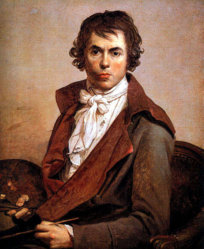 """Jacques-Louis David was an active supporter of the French Revolution and of Robespierre, but was imprisoned after Robespierre's fall from power. The conditions of his imprisonment were relatively lenient. He painted this self-portrait while in prison at the House of Detention at the Hôtel des Fermes, rue de Grenelle. His cell was a small studio belonging to one of his pupils.""   via"