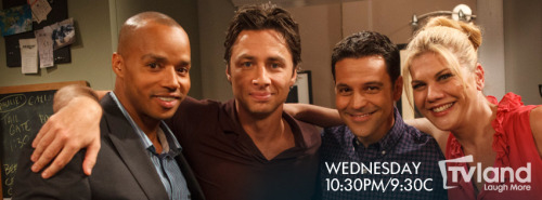 Zach Braff guest stars on The Exes. It's a Scrubs reunion, y'all!