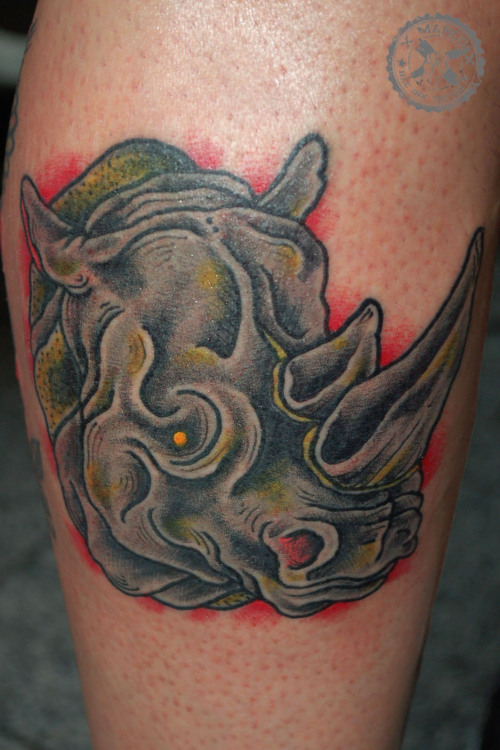 tattoome:  XMarcoX, HARDCORE INK TATTOO, Kassel/Germany, rhino, rhinoceros, animal, www.bettervalues.tumblr.com