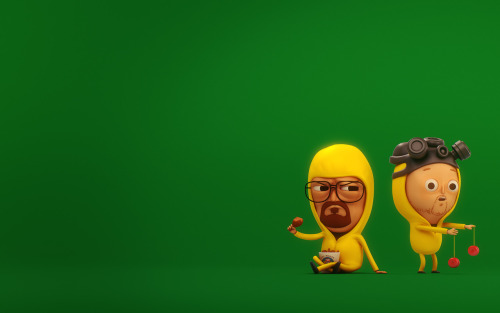 slid3:  Based on Mike Mitchell's wonderfull illustration of Walt & Jesse. additional res': http://slid3.com/3D/MikeMitchell_WaltAndJesse_2560.jpghttp://slid3.com/3D/MikeMitchell_WaltAndJesse_1920.jpghttp://slid3.com/3D/MikeMitchell_WaltAndJesse_1280.jpg