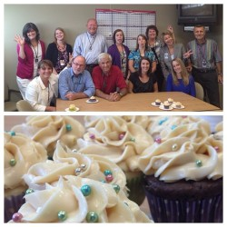 My coworkers know the way to my heart; cupcakes on my last day!  (Taken with Instagram at Integrys Energy Group)