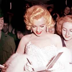 "goddessmarilyn:  Marilyn at the premiere for ""How To Marry A Millionaire"", November 1953"