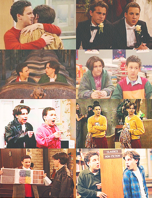 avascrowder:  tv meme: six friendships – cory matthews + shawn hunter Cory: I always thought Topanga was the one person I could never live without. But she's gone, and you're here, and I'm alive! So it must be you! Shawn: I'd take a bullet for you. Cory: No, Shawnie, I love you! Shawn: I love you too, Cory, and I'm not ashamed.