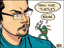 So that's how you get Doc Shaner to draw more turtles…