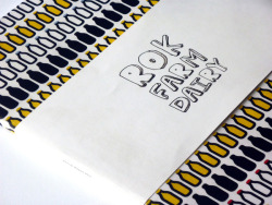 Love the colours and contrast between the simple, bold pattern and hand drawn aesthetic of the type.