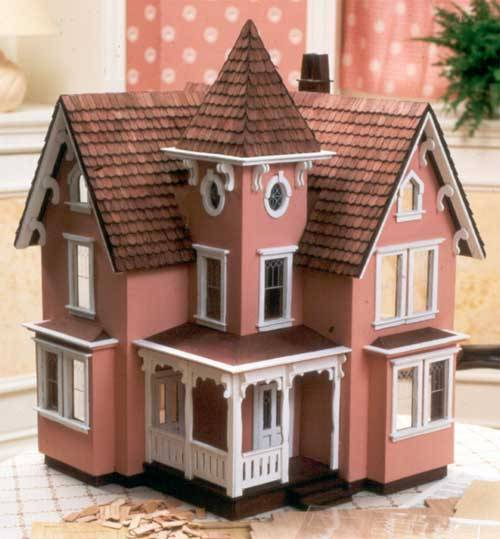 gitanadientes:  Would replicate my home to look like this old doll house in a heartbeat.  This is not an old dollhouse.  Its a kit sold by Greenleaf and is still available.