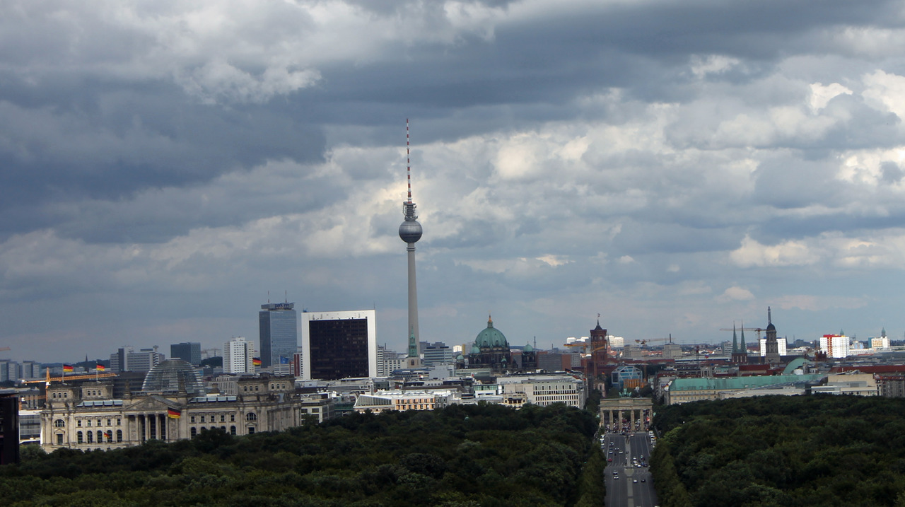 Berlin skyline. Summer 2012. Source: gin+gelato