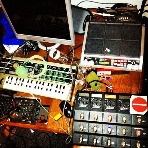 In the lab making #new #noise (Taken with Instagram at Bangs Ave.)